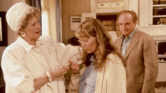 """She played a former movie star in the 1987 Woody Allen movie, """"September,"""" alongside Mia Farrow and Jack Warden."""