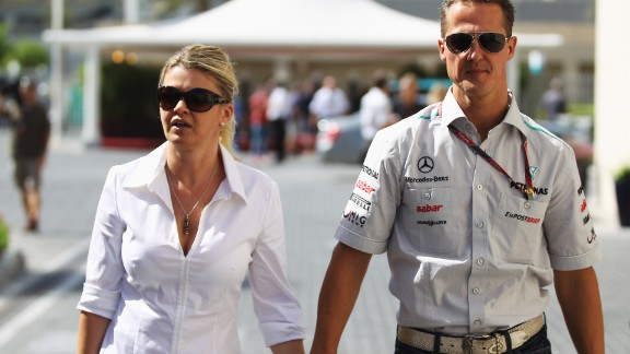 Schumacher had previously raced under the surname Betsch -- the maiden name of his mother Corinna, pictured here with his father Michael.