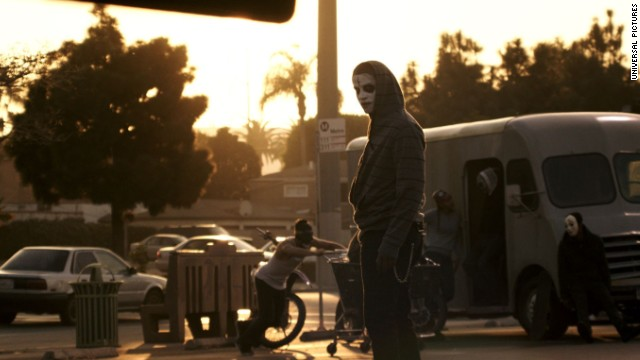 "A scene from 2014's ""The Purge: Anarchy,"" about government-sanctioned lawlessness in Los Angeles."