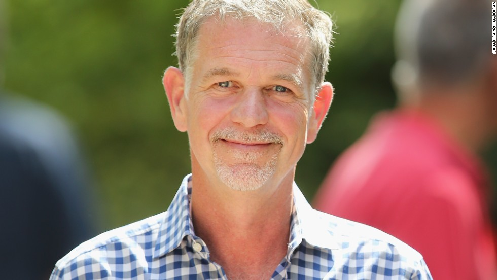 "Reed Hastings, pictured, and Marc Rudolph, two software engineers, founded Netflix in 1997 to use the Internet to rent movies on DVD, then a new format. (An <a href=""http://www.fool.com/investing/general/2012/11/12/9-fascinating-things-about-reed-hastings-and-netfl.aspx"" target=""_blank"">old, discredited story</a> claims that Hastings had the idea after Blockbuster charged him a $40 late fee for ""Apollo 13."") Rudolph left in 2002."