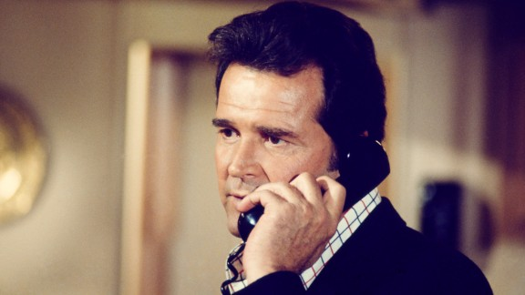 "Garner plays Jim Rockford in the 1970s TV series ""The Rockford Files."""