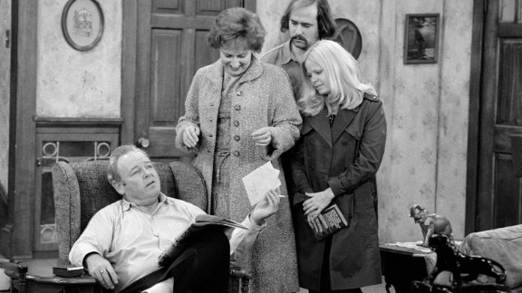 """CBS coasted through 1974 on the success of """"All in the Family,"""" which broke ground for its depiction of a working-class family whose constant bickering stood in stark contrast to the peaceable families of 1960s television. The series debuted in 1971 and was still one of the network"""
