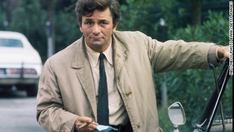 "COLUMBO -- ""By Dawn's Early Light"" Episode 3 -- Aired 10/27/74 Pictured: Peter Falk as Lt. Columbo  (Photo by NBC/NBCU Photo Bank/Getty Images)"
