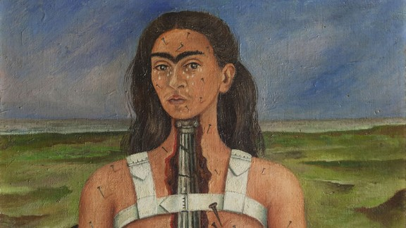 """As a teenager, Kahlo suffered a horrific traffic accident which left her with lifelong health problems. Many of her self-portraits depict her in pain, such as 1944's """"The Broken Column."""""""