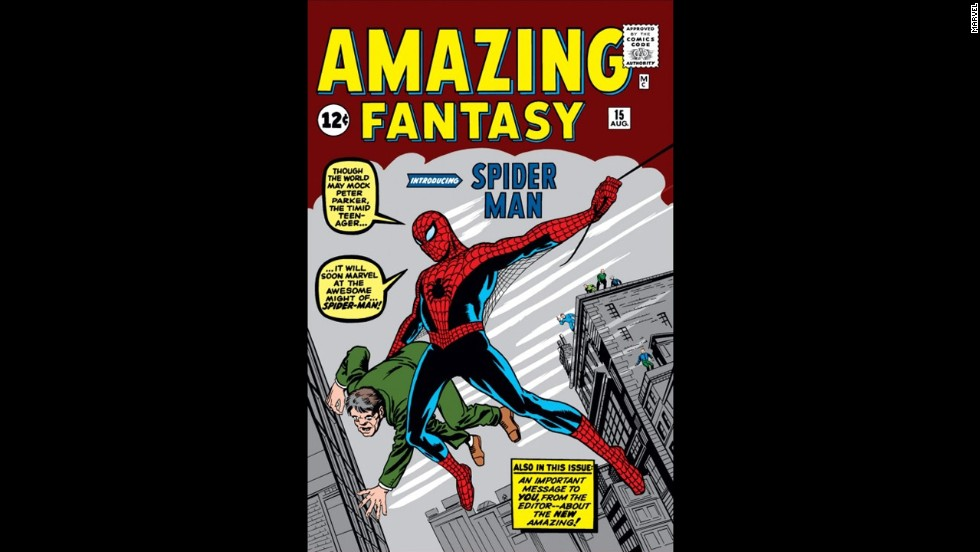 "The No. 15 issue of the ""Amazing Fantasy"" comic book series, published August 10, 1962, marked the first appearance of Spider-Man. The issue is one of the most valuable comics of all time."