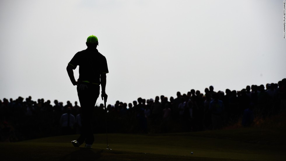 Rory McIlroy waits on the sixth green of the Royal Liverpool Golf Club during the second round of the British Open on Friday, July 18. McIlroy won the tournament by two strokes, becoming only the third golfer to win three majors before his 26th birthday. The other two golfers? Jack Nicklaus and Tiger Woods.