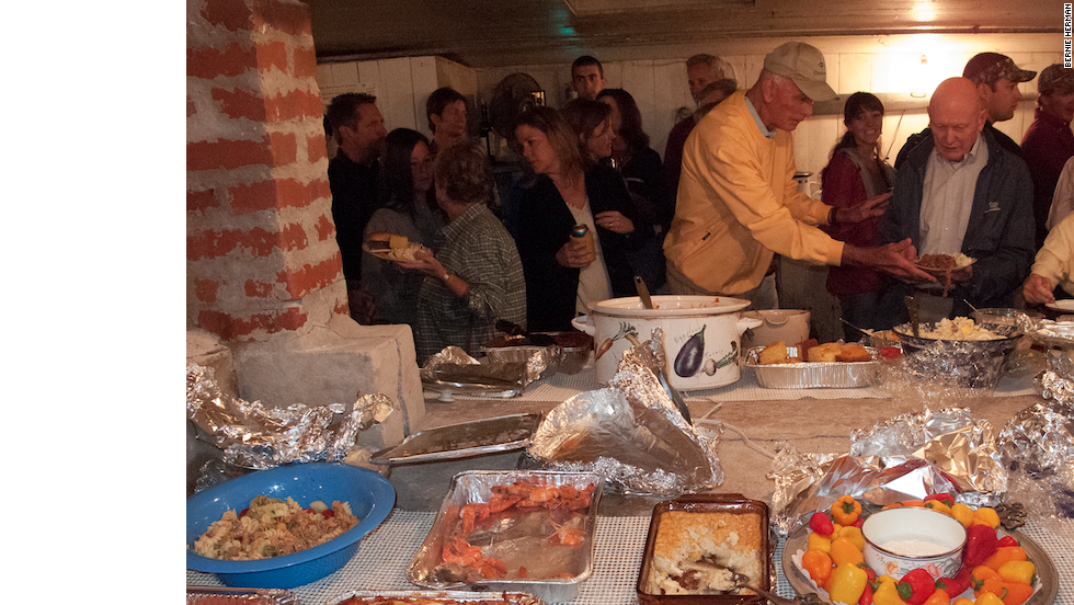 The dishes shared at the Bayford party are memorable, but it is the being there that matters most.