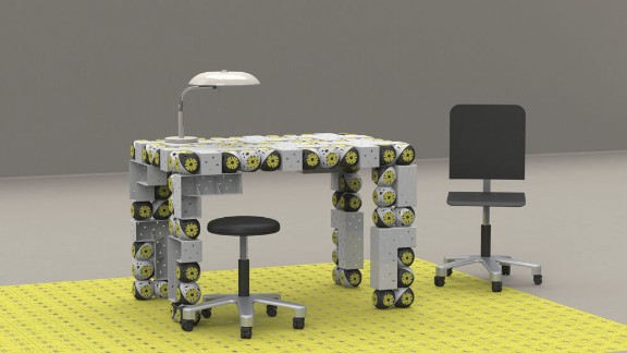 """Roombots"" is a research project that is creating modular robots that can be used as building blocks for furniture that moves, assembles and reconfigures itself."