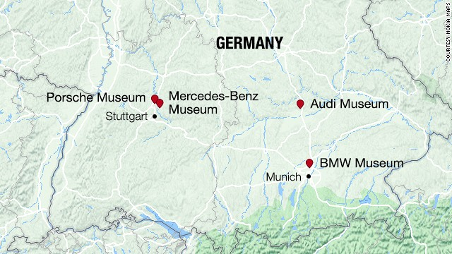 See 4 auto museums in Germany Audi BMW MercedesBenz Porsche
