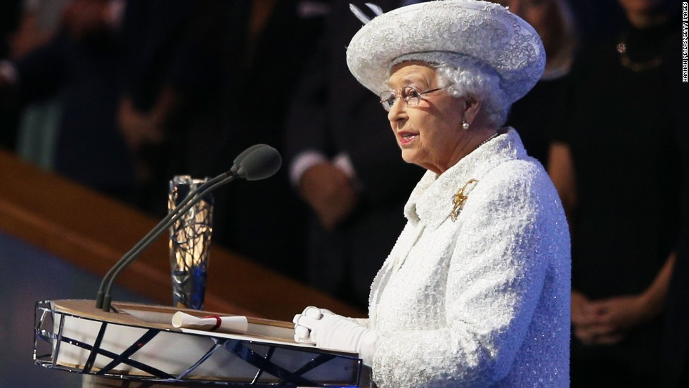 Queen Elizabeth II formally declares the 20th Commonwealth Games open.