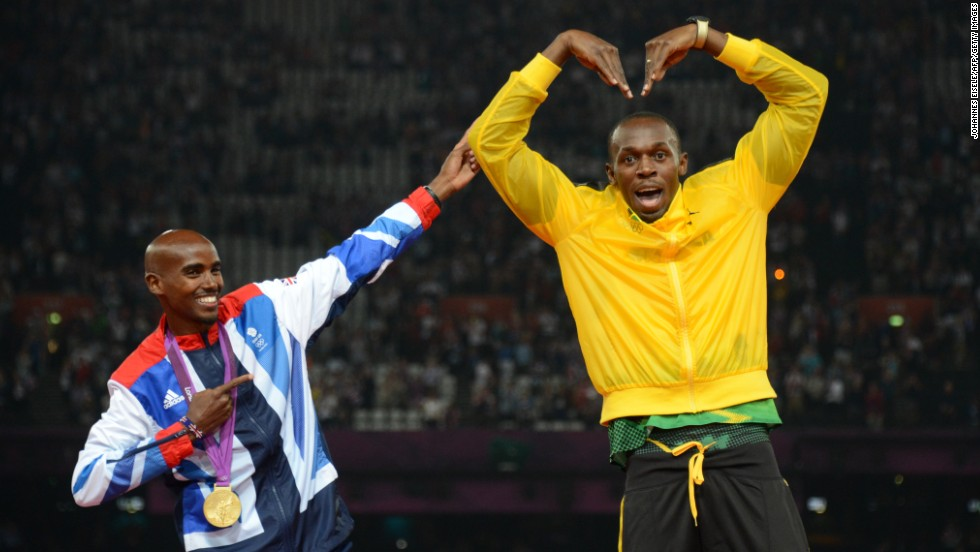 Even the fastest man in the world, Usain Bolt, got in on the 'Mobot' act.