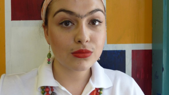 """<a href=""""http://lipmag.com/author/lip-magazine/"""" target=""""_blank"""" target=""""_blank"""">Sarah Iuliano</a>, a journalism student, dressed as Frida Kahlo to give a presentation about her work in an art class aged 16. """"Focusing on Kahlo's appearance rather than her work was of course not my intention, but to me, Frida Kahlo's look signifies freedom. Freedom to mix and match qualities considered to belong to either side of the frustrating gender binary, in both appearance, work and identity,"""" she says."""