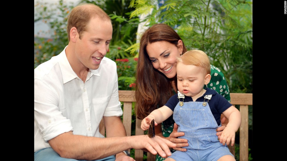 "Britain's Prince George and his parents, Prince William and Duchess Catherine, visit a butterfly exhibition at London's Natural History Museum on July 2. The photo was released this week as Prince George <a href=""http://www.cnn.com/2014/07/11/world/gallery/prince-george-first-year/index.html"">celebrated his first birthday</a> on Tuesday, July 22."