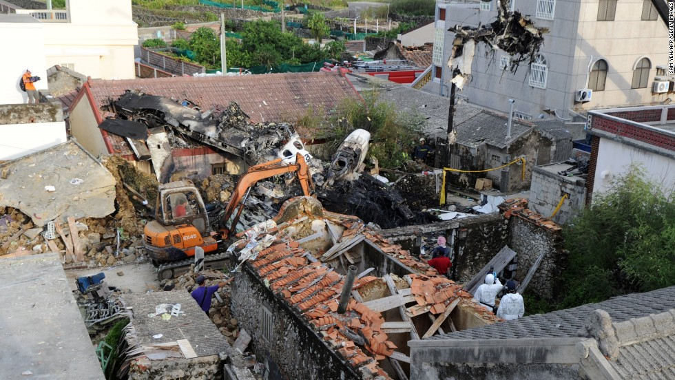 "48 people were killed when <a href=""http://edition.cnn.com/2014/07/24/world/asia/taiwan-plane-crash/"">TransAsia Airways Flight GE222 crashed</a> in Taiwan's Penghu island chain, on July 23, 2014."