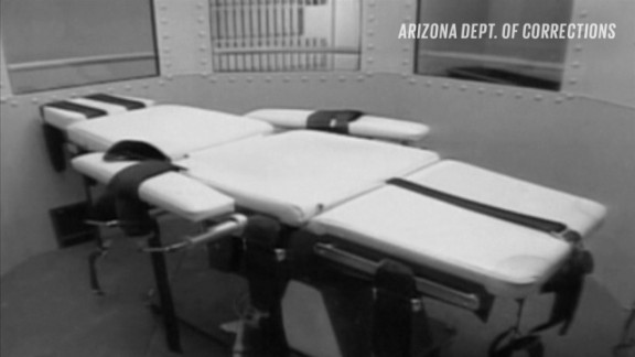 The lethal injection table at the Arizona Department of Corrections.
