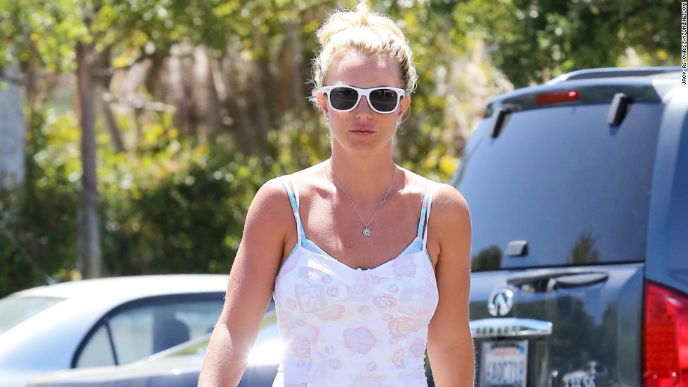 Britney Spears makes a stop at Starbucks in Westlake Village, California on July 24.