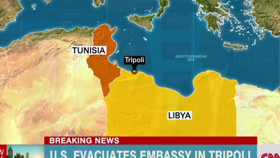 US Embassy In Libya Evacuates Personnel CNN - Where is tripoli