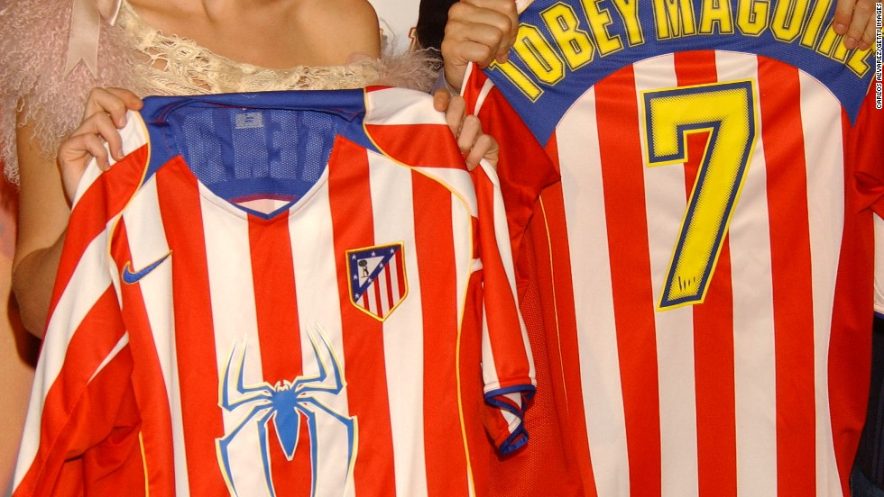 "This slightly more obvious commercial venture by Atletico Madrid aimed to promote the ""Spiderman 2"" movie upon its release in 2004."