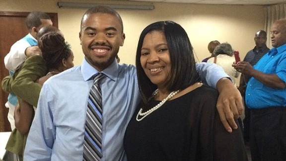 He stuck with the wellness program for 12 months and went from 405 pounds to 280 pounds, losing weight naturally. Here he is with his mother, Beverly Clark, after completing the program.