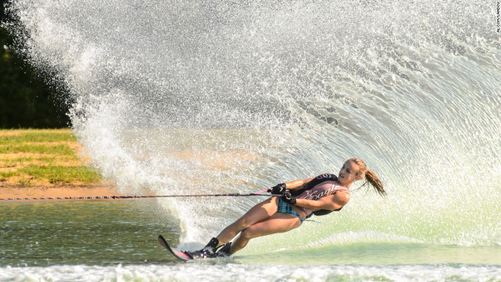 Water skier Ally Brock competes Friday, July 25, in the AWSA Southern Regional Championships in Duncanville, Alabama.