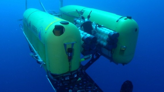 The Nereus Autonomous Underwater Vehicle from the Woods Hole Oceanographic Institute (WHOI), which has carried out research at record depths of 10,000 meters.
