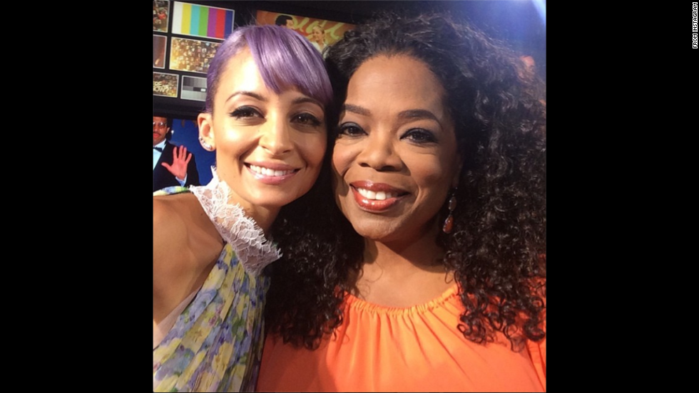 "Reality TV star Nicole Richie, left, posted an <a href=""http://instagram.com/p/q92Mc1Jupy/"" target=""_blank"">Instagram selfie</a> with Oprah Winfrey on Sunday, July 27: ""O-SNAP!!! I sit down with the queen tonight at 9pm on @OWNtv #CandidlyNicole #letstakeaselfieOprah"""