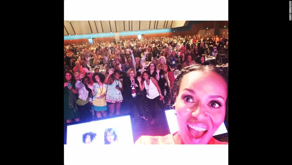 "Actress Kerry Washington posted an Instagram selfie Saturday, July 26, with a crowd at the BlogHer conference in San Jose, California. <a href=""http://www.cnn.com/2014/07/23/world/gallery/look-at-me-0723/index.html"">See 18 selfies from last week</a>"