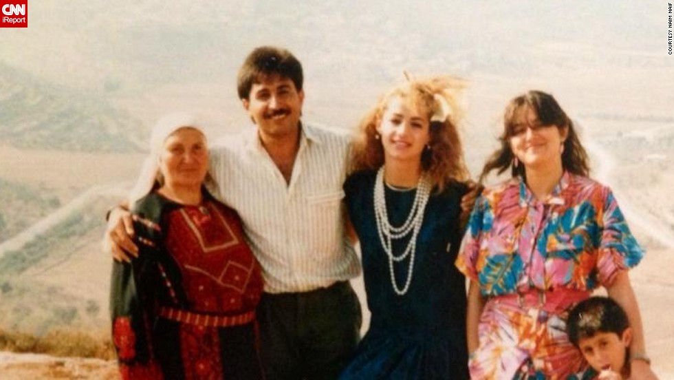 "Naim Naif was born in the U.S. but spent part of his childhood in the West Bank. His <a href=""http://ireport.cnn.com/docs/DOC-1156751"">Palestinian parents</a>, seen in the center, posed after getting engaged in 1985 in his father's hometown Sinjil, West Bank. Click through to see photos of his family through the years."