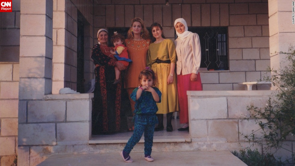The Western styles of the '80s and '90s also reached the West Bank. Naif's aunt, wearing yellow in 1990, had never visited the States.