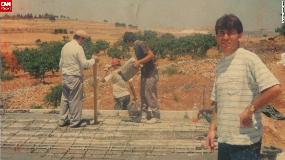 "The Naif family works to expand his grandmother's patio in the '90s. When Israel built a new settlement after the second intifada, according to Naim Naif. ""My grandmother lost a lot of land."""