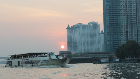 The Chao Phraya is a major river that flows through Bangkok, Thailand. Sobhana Venkatesan, who visited Thailand in January, was impressed with the river's many transportation options.