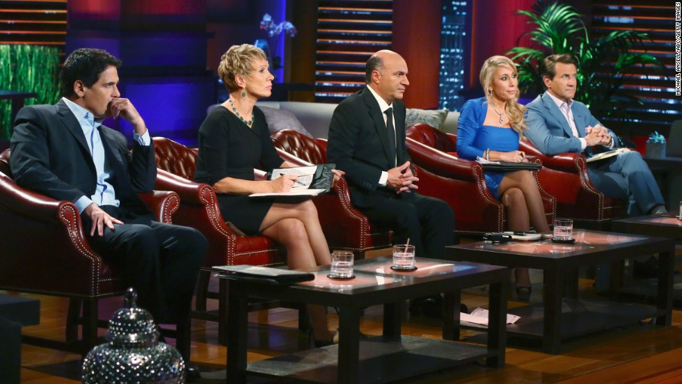 "Cuban and other panelists on the show ""Shark Tank"" watch as entrepreneurs pitch a smart lightbulb, a high-tech replacement for a wine cork, a subscription service of carefully curated children's books, and a fort-building construction kit for kids."