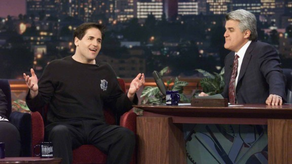 "Cuban is interviewed on ""The Tonight Show"" by Jay Leno on April 17, 2001."