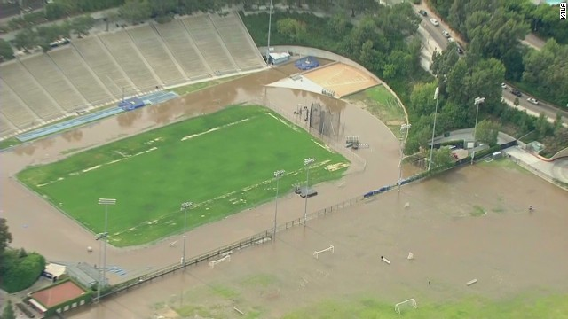 A water main broke in Los Angeles spreading ankle-deep water across sections of the UCLA campus Tuesday.