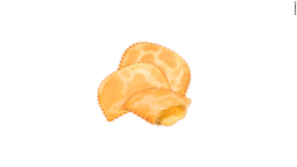 Empanadas are a staple snack in Chile, where they are a popular item on the McDonald's menu. These empanadas contain only cheese.