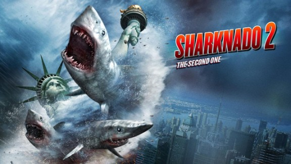 """The TV movie """"Sharknado 2"""" was a hit for Syfy."""