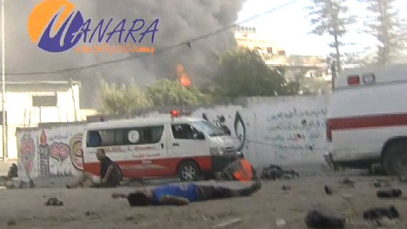 The Gaza-based al-Manara media agency captured extraordinary images of the July 30, 2014 Israeli air attack on the al-Shujaiya market.