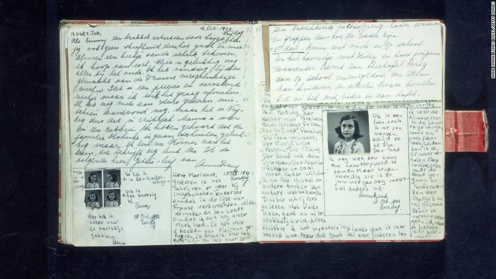 rare handwritten anne frank poem at auction cnn pages text and photos from anne frank 39 s diary written in
