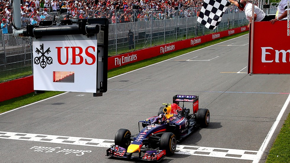 Ricciardo won the first race of his F1 career at the 2014 Canadian Grand Prix after making a series of impressive moves through the field.