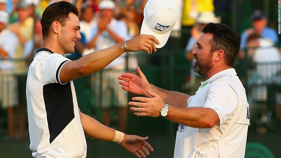 Martin Kaymer embraces caddie Craig Connelly after winning this year's U.S. Open. Research from Loughborough University underlined four pillars of a player/caddie relationship: closeness, including trust and respect, commitment, being complementary as well as open, and co-orientation, which hinges on shared knowledge and understanding.