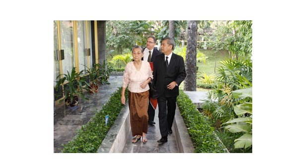 Keo Nan, Chhang's 86-year-old mother, lost nearly 60 members of her family during the Khmer Rouge regime.