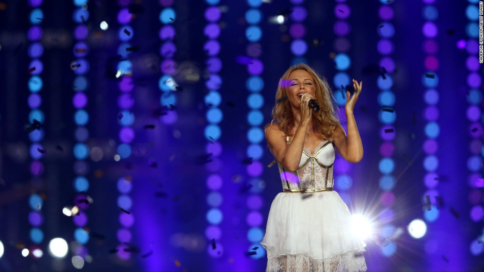 The closing ceremony for the Glasgow 2014 Commonwealth Games on Sunday was a star-studded celebration for a successful and well-regarded games. Australian singer Kylie Minogue performs.