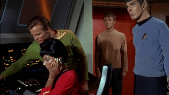 """In 1968, Nichols and William Shatner -- otherwise known as Captain Kirk -- locked lips in what is believed to be U.S. television's first interracial kiss. But it very nearly didn't go ahead. """"They had to take it to the New York guys who ran the whole network, and they even said 'don't get your hopes up' to the director and writer,"""" said Nichols."""