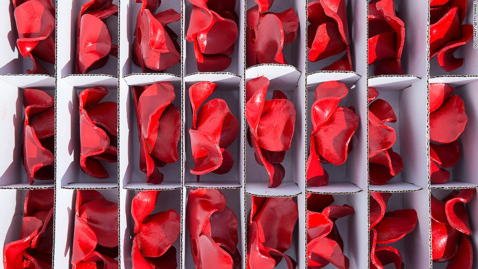 The poppies are unique -- each one is individually handcrafted by a team of artists and volunteers.