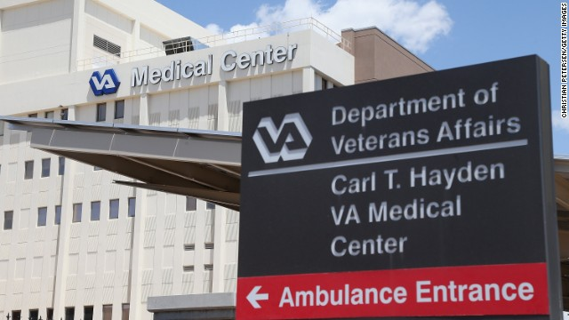 Exterior view of the Veterans Affairs Medical Center on May 8, 2014, in Phoenix.