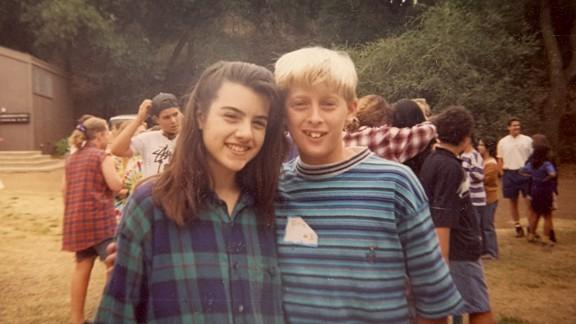 Alex and future husband Eric Spitz at Camp JCA Shalom