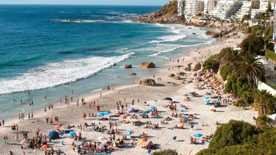 South Africa's second most populous city along with Durban, Cape Town is predicted to see a whopping 12.7% rise in visitors this year.  Holidaymakers at Clifton Beach, Cape Town.