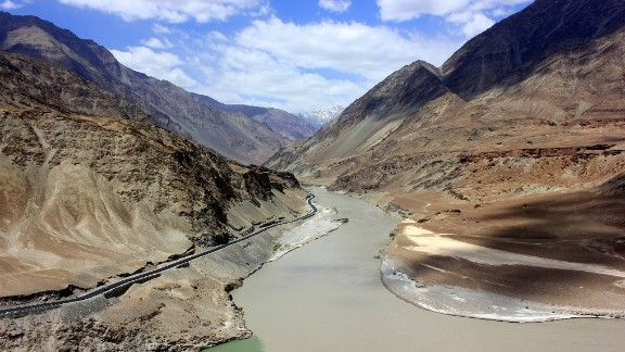 """During a trip to India, the confluence of the Indus and Zanskar rivers stood out as a highlight for Pramod Kanakath. He described the scene as breathtaking. """"It was nothing but viewing the Himalayas and breathing fresh air and standing at a site where a civilization took shape."""""""