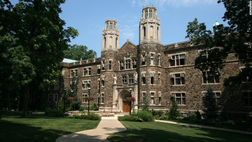 Parties at Pennsylvania's Lehigh University must be a stately affair. The campus is No. 6 on the list.
