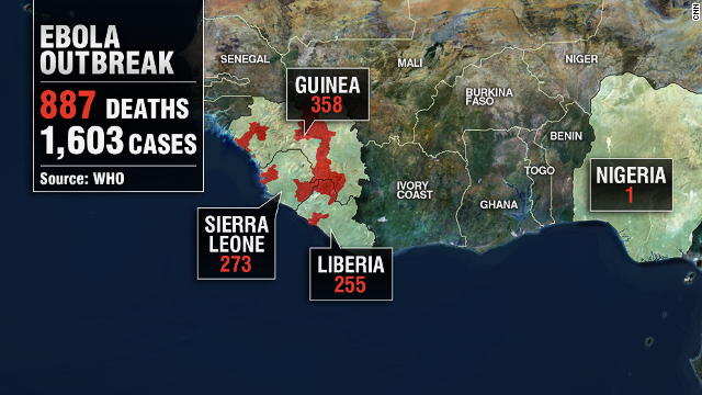 Map: The Ebola outbreak